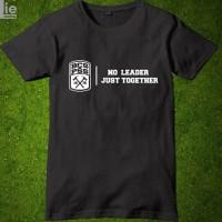Kaos Baju Obral Combed 30S Distro BCS PSS SLEMAN NO LEADER JUST polos