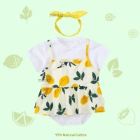 Mimiko - Lemon Set Dress Bodysuit Romper Bando Balita Bayi Perempuan
