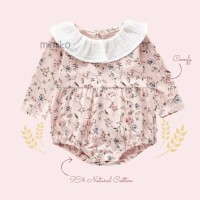 Mimiko - Abigail Body Suit Romper Long Sleeve Onesie Bayi Perempuan