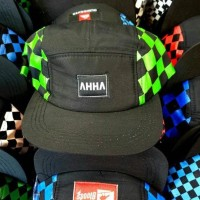 Topi HIPHOP Catur Hijau FIVE PANEL AHHA Best Seller!!! Snapback 5