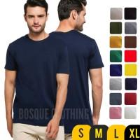 Kaos Polos Pendek Navy / Biru Dongker 100% Cotton Combed 30S Pria