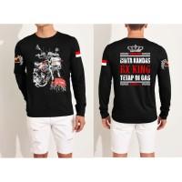 Dave Fashion-Kaos Distro LENGAN PANJANG RX KING TETAP DI GAS Black FN2