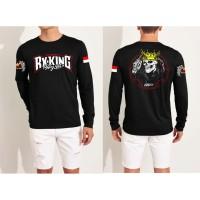 Dave Fashion-Kaos Distro LENGAN PANJANG RX KING TENGKORAK Black FN220