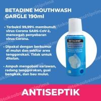 Obat Kumur Antiseptik Betadine 190 ml | Pembasmi Virus Bakteri