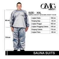 (KHUSUS XXL) Baju SAUNA SUIT Jaket Celana Pakaian Olahraga OMG uk. XXL