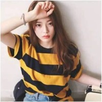 T-shirt Comfy Yellow Black Be lady Tee Baju Sablon Tumbl Kaos Murah