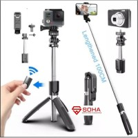 L02 Tongsis Plus Tripod Wireless Bluetooth Selfie Stick Monopods