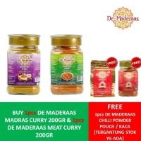 BUY 2 GET 1 FREE- DE MADERAS MADRAS CURRY + DE MADERAS MEAT CURRY 200