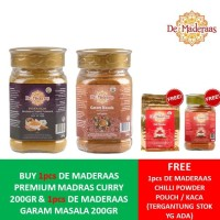 [FREE CHILLI POWDER] Premium Madras + Garam Masala 200GR