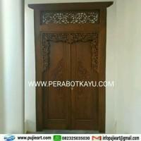 Pintu Rumah Kayu Jati Minimalis   Gebyok Jati Ukir Jepara Jawa Klasik
