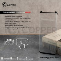 SAMSUNG GALAXY S8 PLUS - COPPER FULL COVERED TEMPERED GLASS