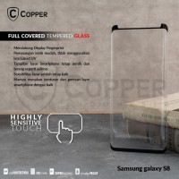 SAMSUNG GALAXY S8 - COPPER FULL COVERED TEMPERED GLASS