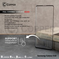 SAMSUNG GALAXY S10 - COPPER FULL COVERED TEMPERED GLASS