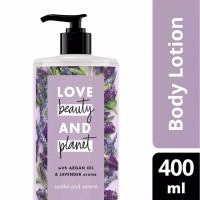 LOVE BEAUTY AND PLANET BODY LOTION ARGAN OIL + LAVENDER 400ML