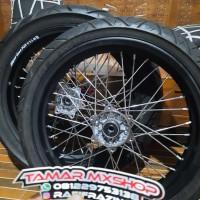 velg set ban set pelah supermoto klx 150 BF Dtracaker ring 17