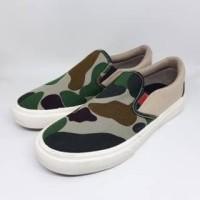 Sepatu Warrior Avatar Army Cream Slip On Sneakers Pria Wanita Limited