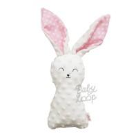 Polkadot Pink Bunny Minky Doll - BabyLoop - BabyLoop