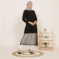 Yoenik Apparel Mells Tile Polka Dress Black M15329 R71S5
