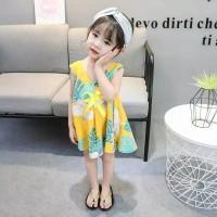 Dress batik anak perempuan / gaun batik santai anak / baju batik anak