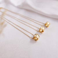 Kylie - Kalung Wanita Sterling silver Fashion Cubic Zirconia rose gold