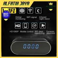 Spy Kamera Jam Meja WIFI Hidden Camera Clock Ori Night Vision Full HD