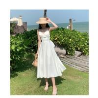 white backless dress pantai wanita gaun casual beachwear sexy women