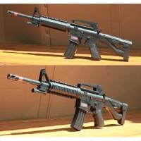 Mainan Dcobra M16 M 16 Spring kokang laser airsoft mini Ar 15 M416