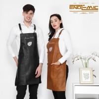 Full sintetis leather apron quantum premium for barista + bordir