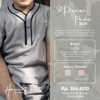 Rabbani Setelan Piyama Farha Boy Original Baju Tidur Anak Cowok