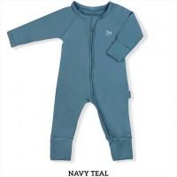 Little Palmerhaus Baby Sleepsuit Baju Tidur Bayi Navy Teal