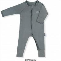 Little Palmerhaus Baby Sleepsuit Baju Tidur Bayi Charcoal