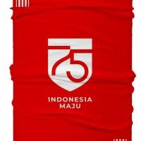 Masker Buff Bandana HUT RI 75 TH Bendera Merah Putih Indonesia Merdeka