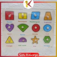 SK-M67-68 Mainan Edukasi Anak Puzzle Kayu Knob Background Bergambar