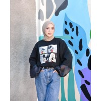 Mickey Stradiv Oversize Sweater   Terminal Grosir   Outerwear Wanita