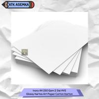 Ivory A4 250 Gsm 2 Sisi HVS & Glossy Kertas Art Paper Carton Karton