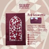 [NEW SERIES] Sajadah SUJUD Red Geometric | Portable Pocketsize Travel