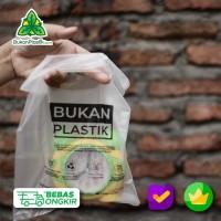 Plastik Organic Kantong Cassava Putih Bening - Kantong Ramah Lingkunga