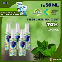 TRiC Liquid Hand Sanitizer 50 ml*5 pcs [FREE 2*2 NEXCARE MASKER]