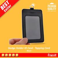 Kantung Badge Holder Name Tag Kartu ID Card PU Leather Kulit - 610