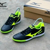 New Sepatu Futsal Pria Mizuno Fortuna Hitam Hijau Import Vietnam New