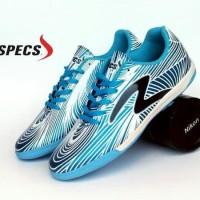 Baru Sepatu Futsal Pria Specs Barricada Ultra Biru Putih Baru Sf693