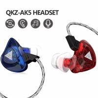 QKZ AK5 In-Ear Headphone Bass Earphone Mic bukan headset TRN KZ CCA