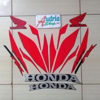 Sticker Striping Motor Honda CBR250RR 2017 Full Hitam