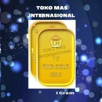 Logam Mulia LM 1gr 1g 1gram 1 gram Batangan Emas ANTAM Sertifikat