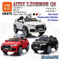 [GOCAR] Unikid UK675 Audi Q5 License Mainan Mobil Aki Ban Karet SNI
