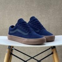 Sepatu Vans Old Skool Dk Navy Blue Gum Sole BNIB Original Premium