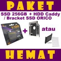 PAKET HEMAT SSD 240GB V-GeN + HDD Caddy 12.7 mm / 9.5 mm   DVD to HDD