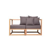 CUBIX SERIES - Kursi Tamu Sofa Modern Minimalis (AC,AC) - XIONCO - Abu-abu Muda, Rangka Terang