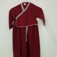 Terusan Model Korea / Long Dress Cheongsam Kostum Anak Cewek Merah