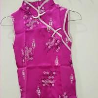 Gaun Dress Cheongsam Anak Cewek Pakaian Perempuan Warna Pink Fanta